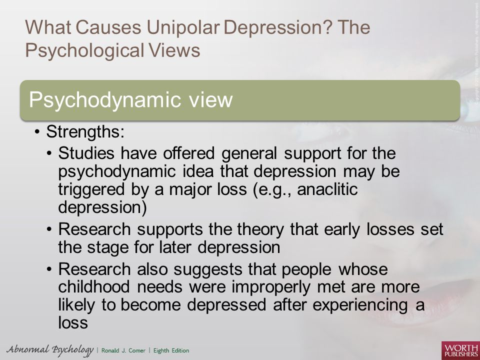 "psychological reasons for depression research paper Depression if mood disorders like depression are left untreated for long periods of time, the debilitating effects of depression cause unnecessary suffering that intervenes with people's daily-life activities7 11 definition and classifications the oxford english dictionary defines depression as ""a mental."