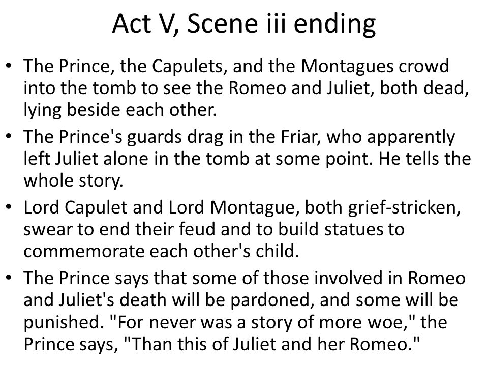 Transcript Of Romeo And Juliet Turing Points Plot Turning ACT I Scene 1 The Capulets Montegues End Their Feud
