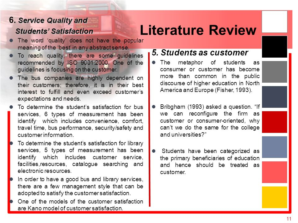 Literature review service housing quality in educational institutions