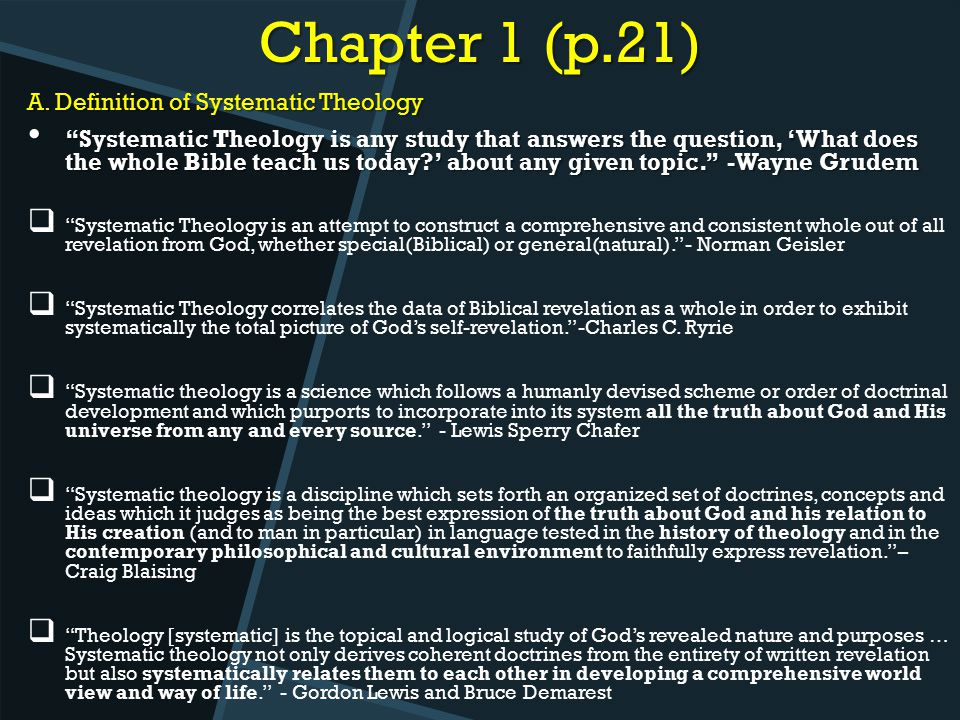 a definition of the theological meaning of revelation On this blog i often reference theology and the impact it has on leadership because theology is an integral part of understanding what the bible says it is important.