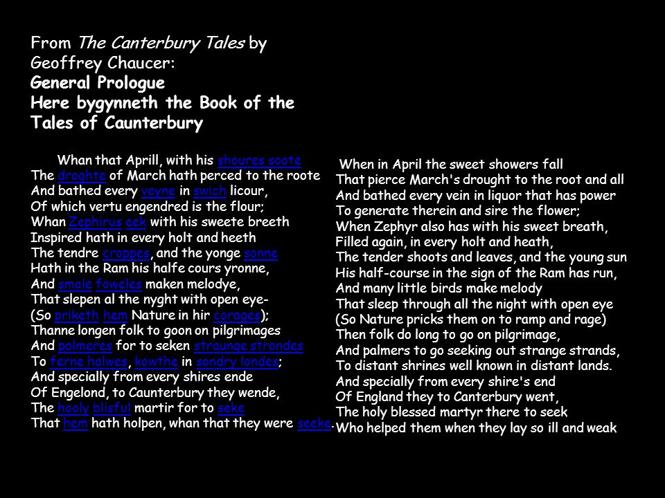 canterbury tales prologue modern english pdf