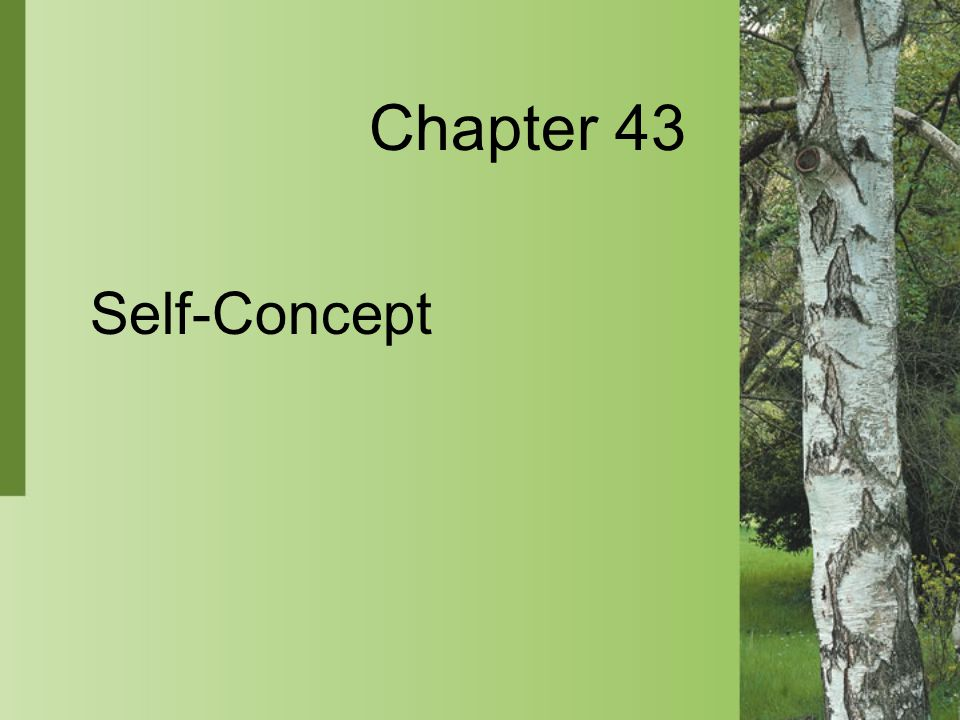 Chapter 43 Self-Concept