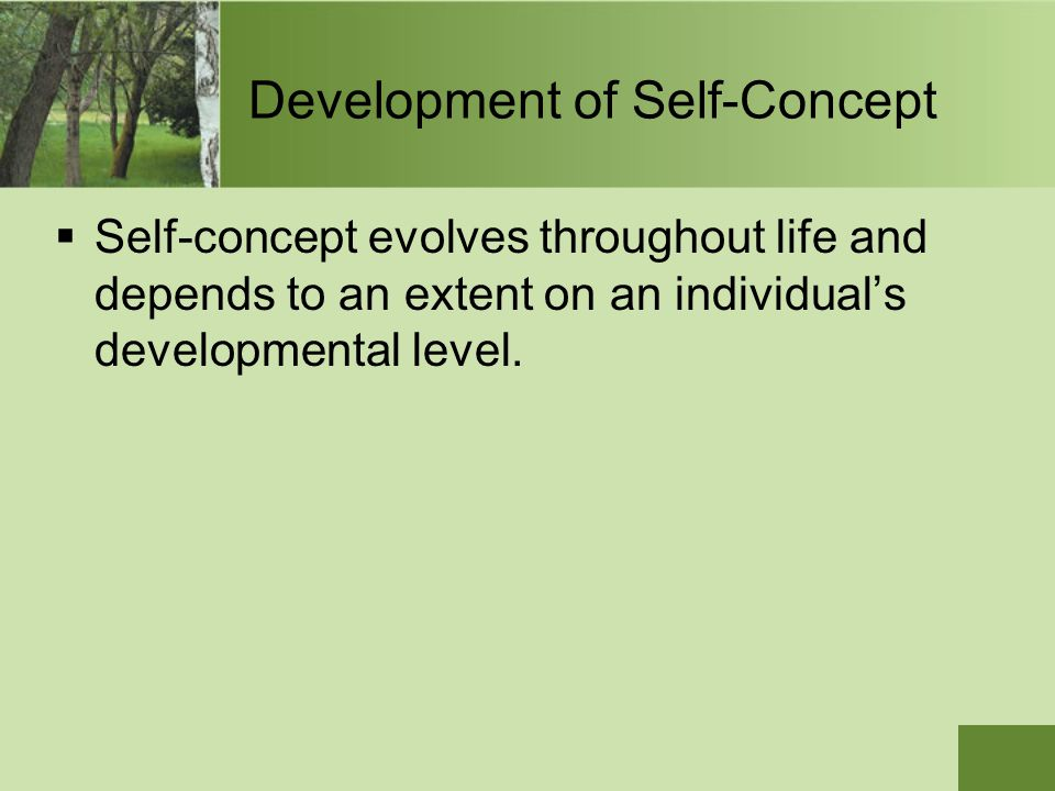Development of Self-Concept