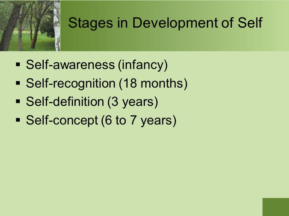 Stages in Development of Self