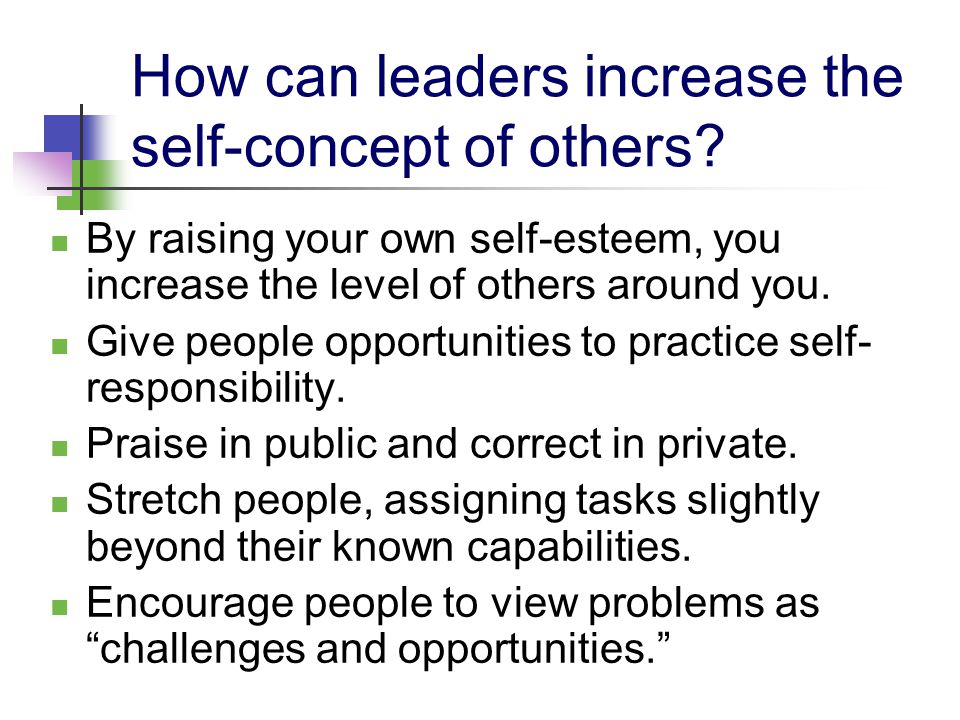 understanding the concept of self esteem Elf esteem is a concept used to convey the positive if people can gain an understanding of how they can build and support identity and self esteem.