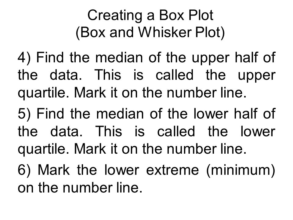 Statistics use graphs to show data box plots ppt download creating a box plot box and whisker plot ccuart Images