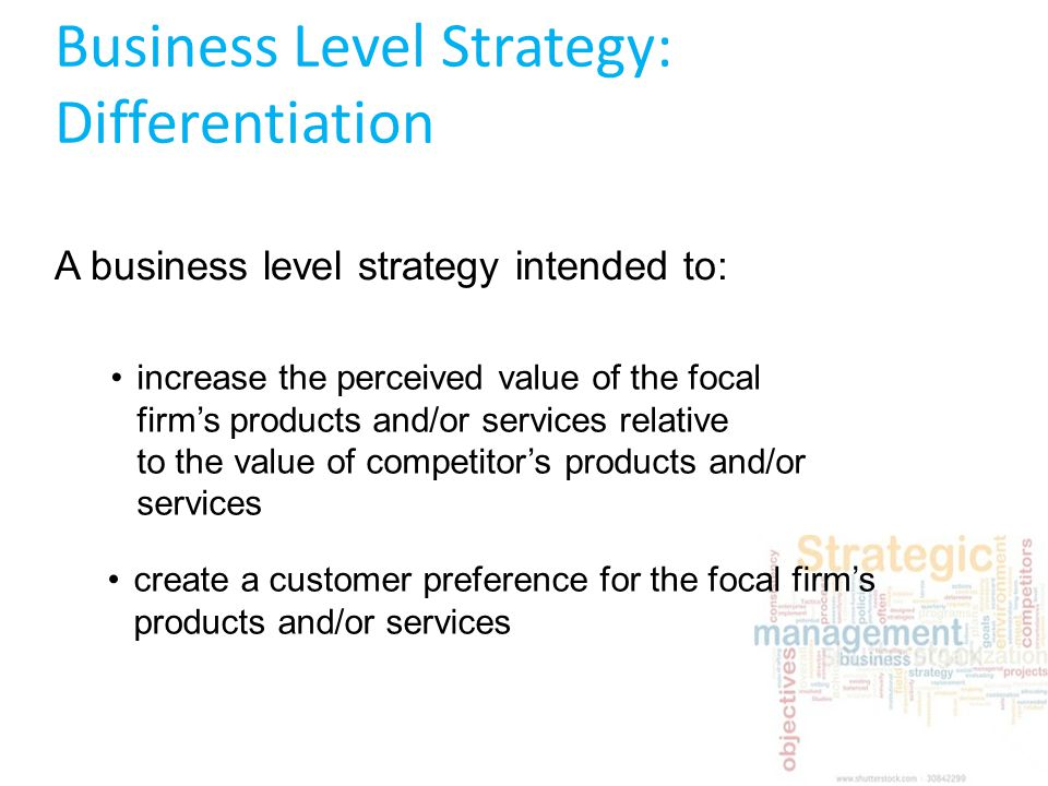 Strategies for small business differentiation essay