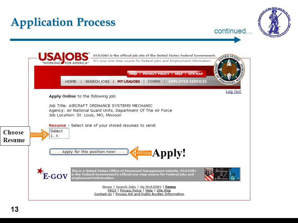 Application Process – New Account