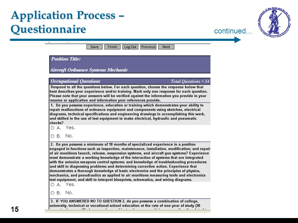 Application Process – Application