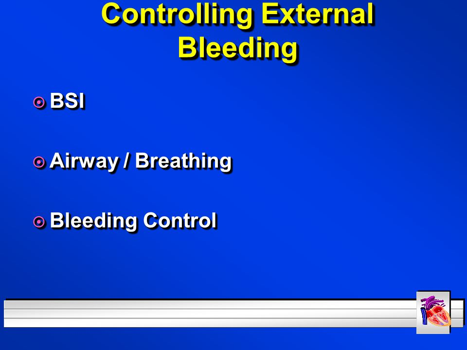 Controlling External Bleeding