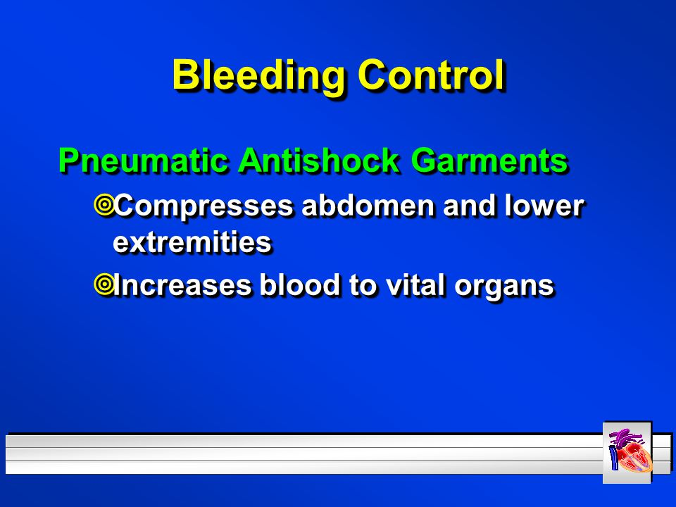 Bleeding Control Pneumatic Antishock Garments
