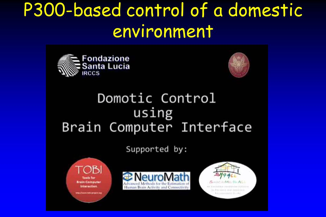 P300-based control of a domestic environment