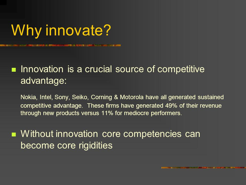 how innovation contributes to competitive advantage marketing essay Strategic innovation and sustainable competitive advantage that emerges from this review along with directions for future research keywords: competitive advantage, disruptive innovation, embeddedness, marketing, proctor and.