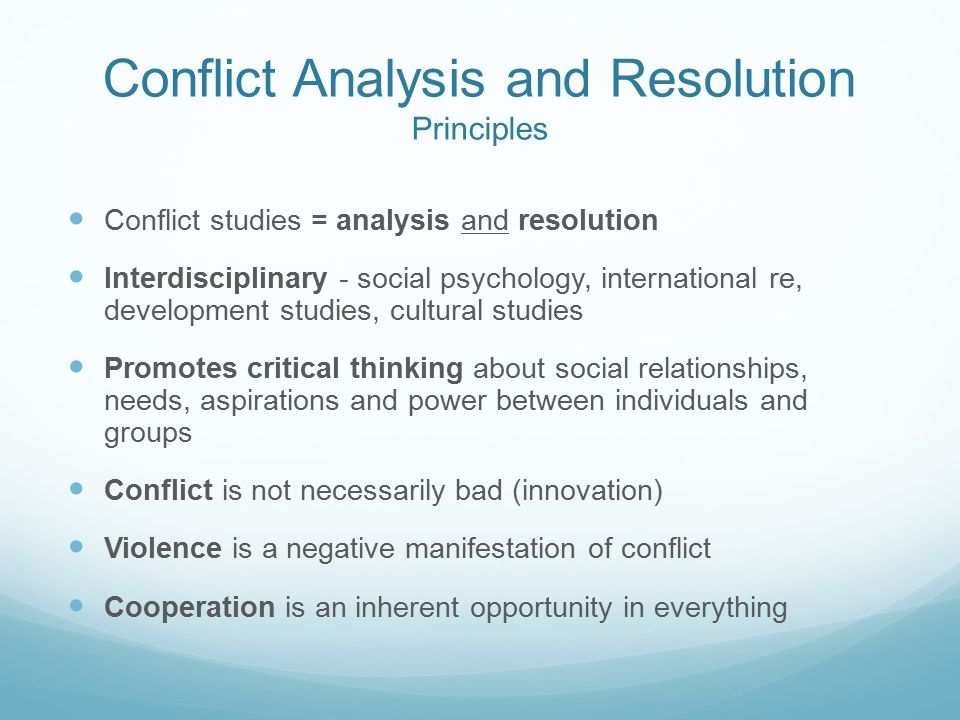 Why Study Conflict Resolution and Mediation | The ...