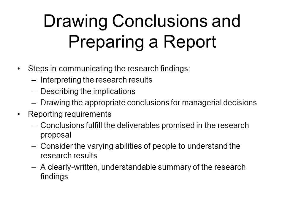 7 Steps to a Successful Research Report