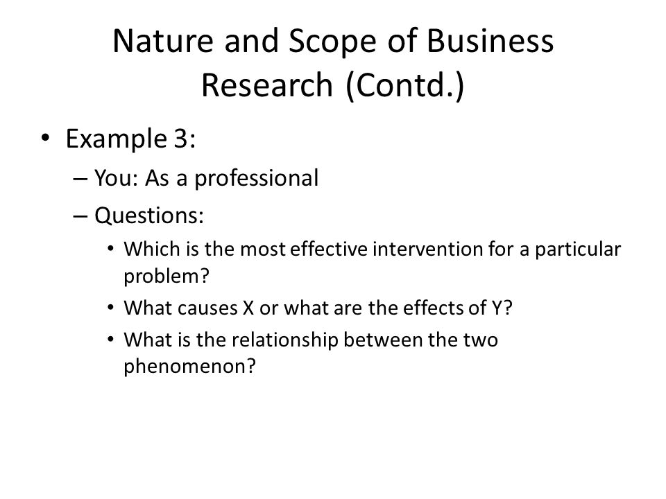 Nature and scope of business plan