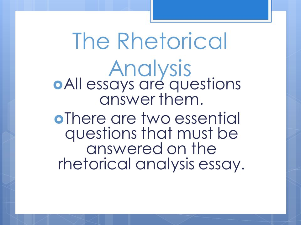 How to Write a Rhetorical Analysis Thesis Statement Essay