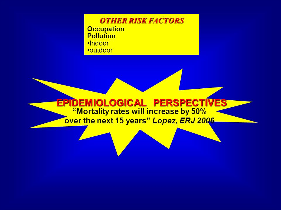 EPIDEMIOLOGICAL PERSPECTIVES