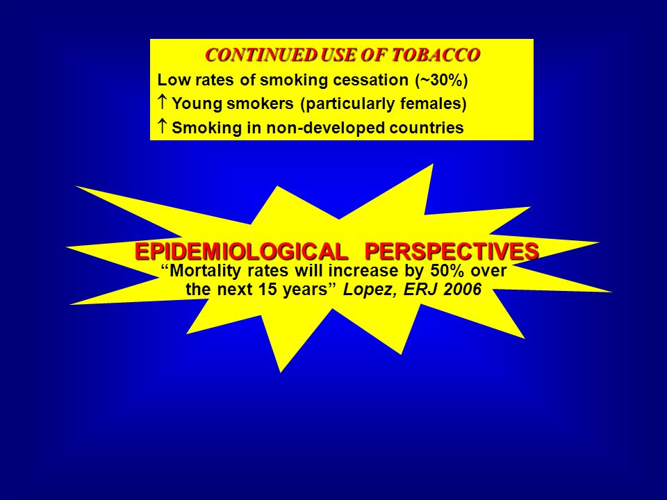CONTINUED USE OF TOBACCO EPIDEMIOLOGICAL PERSPECTIVES