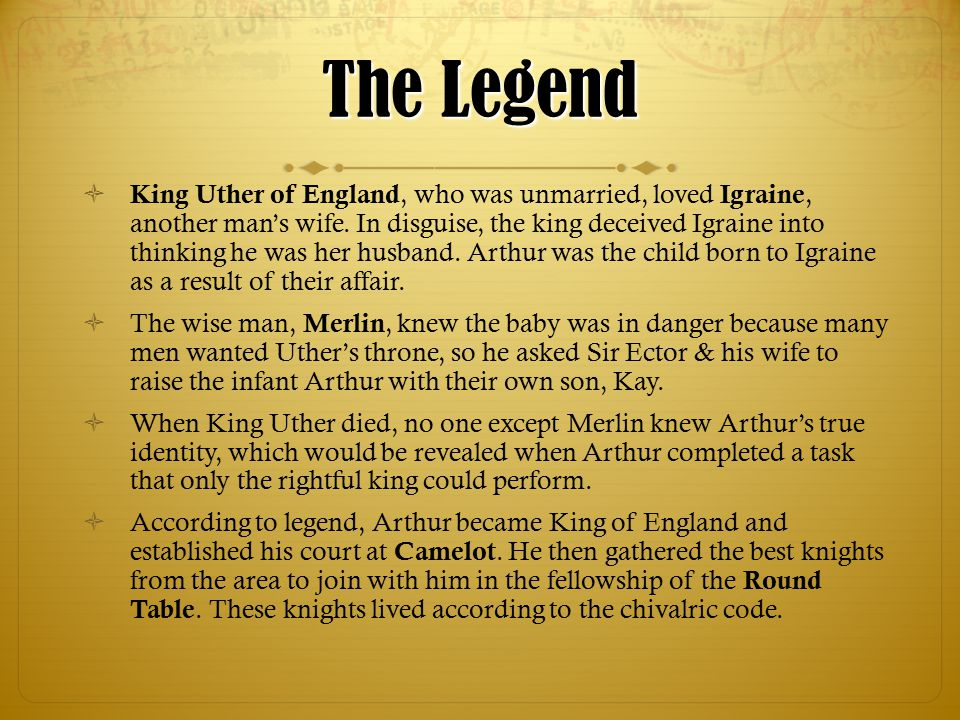 The crowning of king arthur ppt download for 12 rules of the knights of the round table