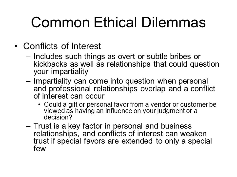 project management ethical dilemmas An introduction to ethics for project this paper is written as a support for a module on ethics intended for project management project management.
