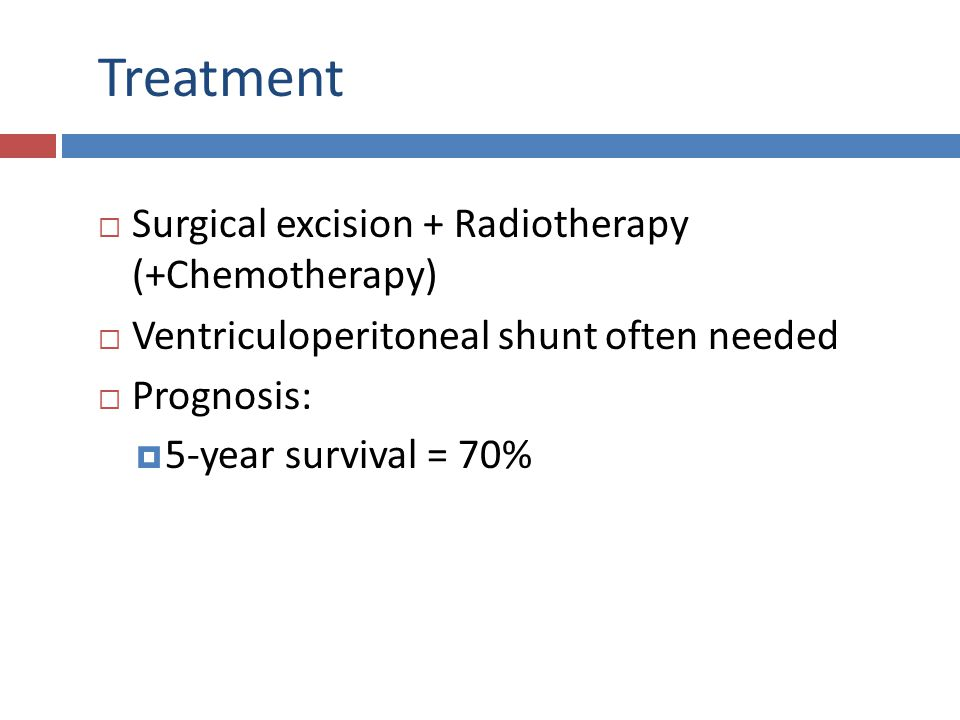 Treatment Surgical excision + Radiotherapy (+Chemotherapy)