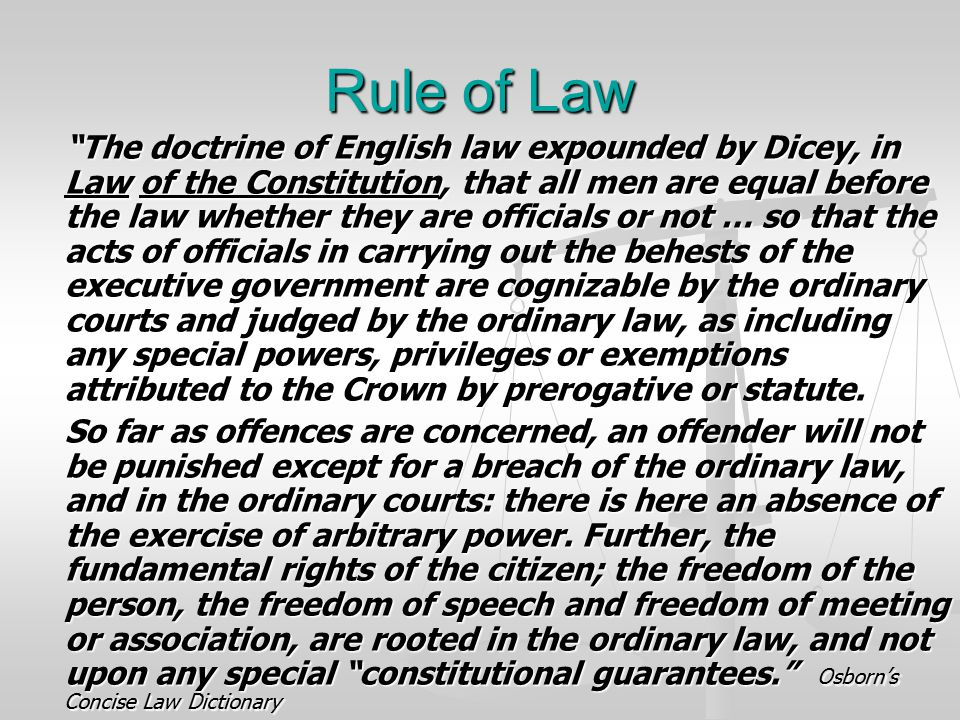 royal prerogatives and rule of law The rule of law and the justiciability of prerogative powers: a comment on black v chrétien.
