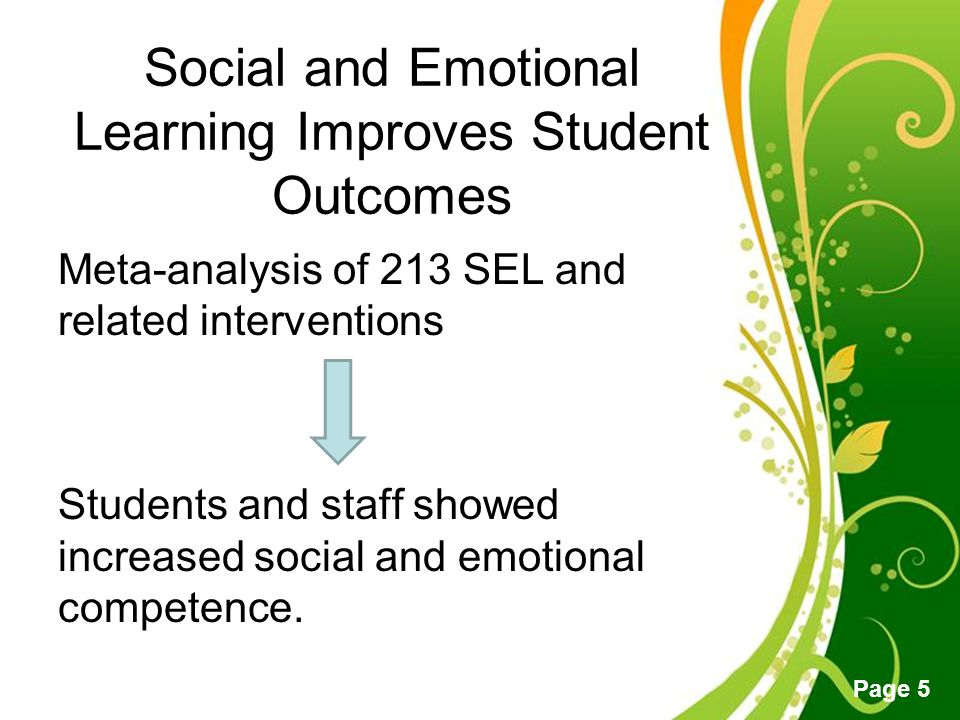 social and emotional learning essay Social emotional learning - research database this essay discusses these emotions and reports the many benefits of adults learning a second language.