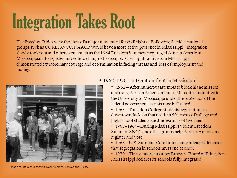 Integration Takes Root