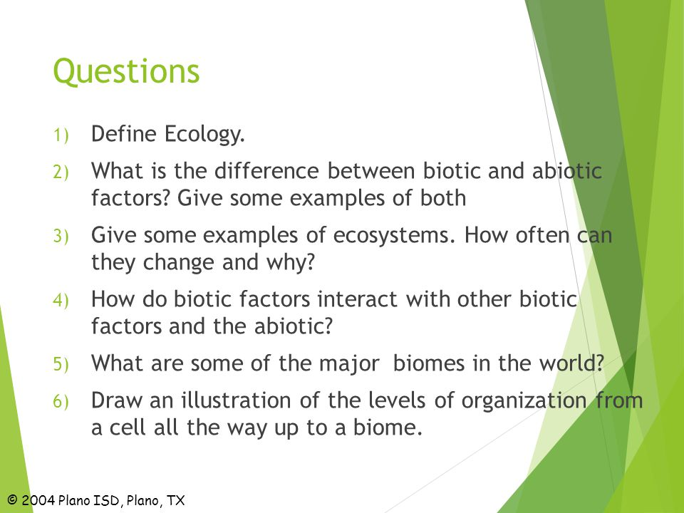 relationship between biotic and abiotic examples