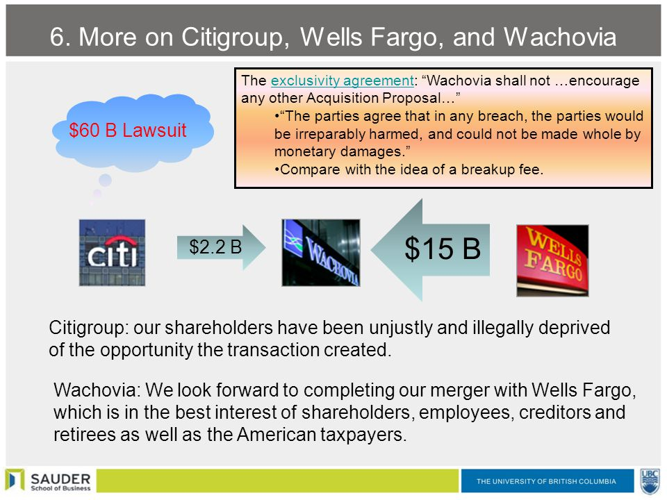 wells fargo wachovia merger Wells fargo is entering the final leg of the integration of wachovia---a big, but largely complementary bank combination forged in the market meltdown of 2008 when the $15 billion merger was announced, wells fargo estimated it could save $5 billion in costs of that sum, $1 billion was related to.