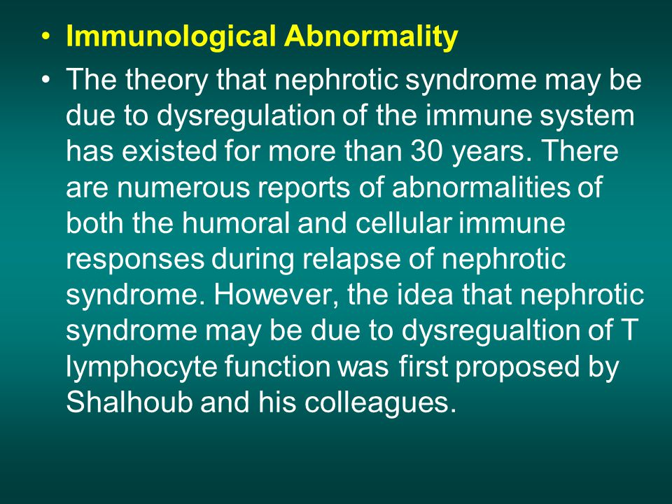 Immunological Abnormality