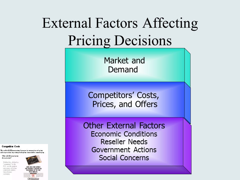 External Factors Affecting Pricing Decisions