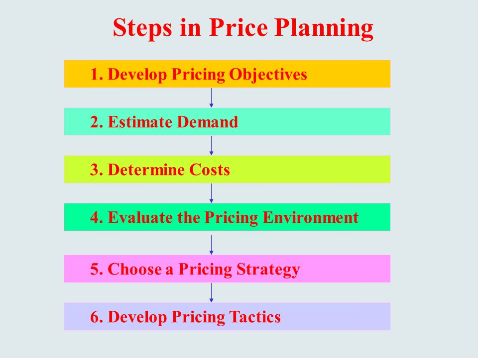 Steps in Price Planning