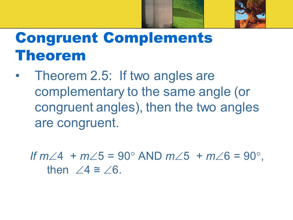 Congruent Complements Theorem