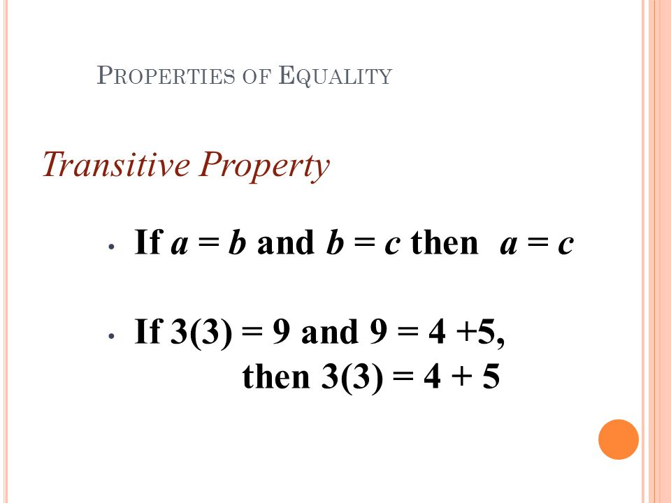 1-4 Solving Equations Properties of Equality - ppt download
