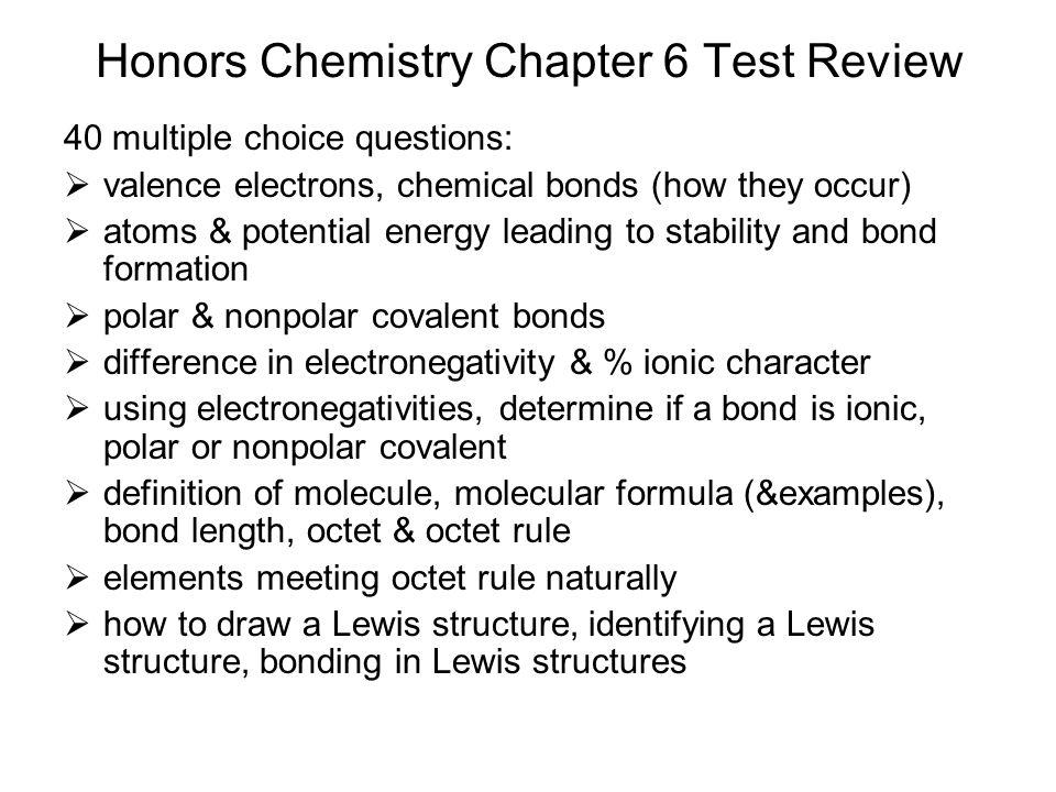 Modern Chemistry Chapter 6- Chemical Bonding - ppt video ...