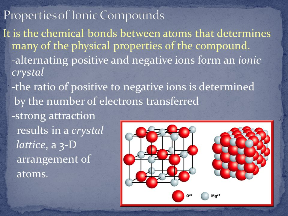 characteristics of ionic compounds pdf