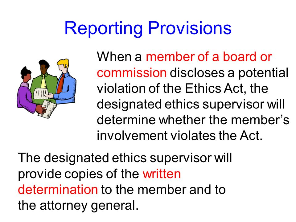 Reporting Provisions