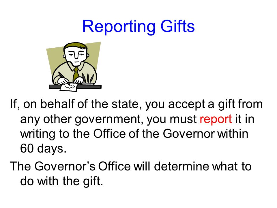 Reporting Gifts
