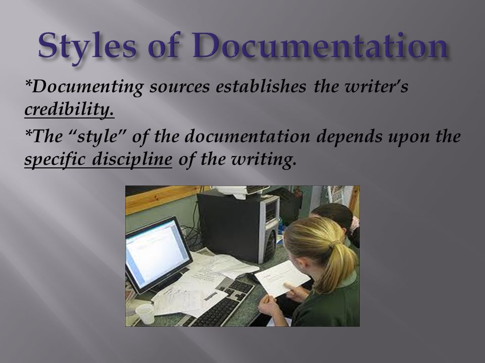 Styles of Documentation