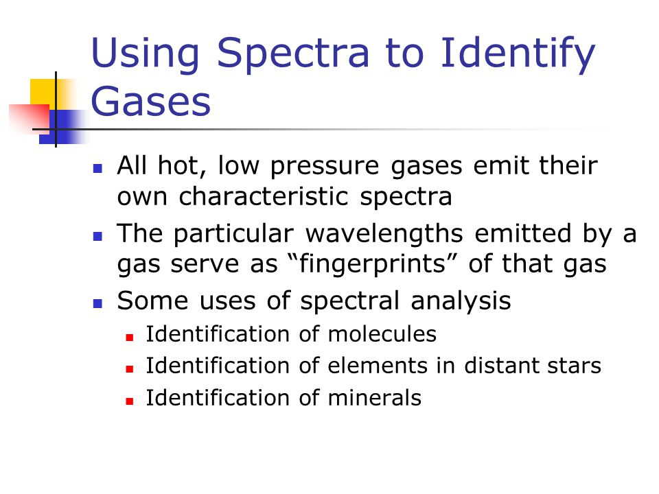Using Spectra to Identify Gases