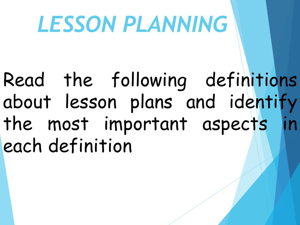 Lesson Planning. - Ppt Video Online Download