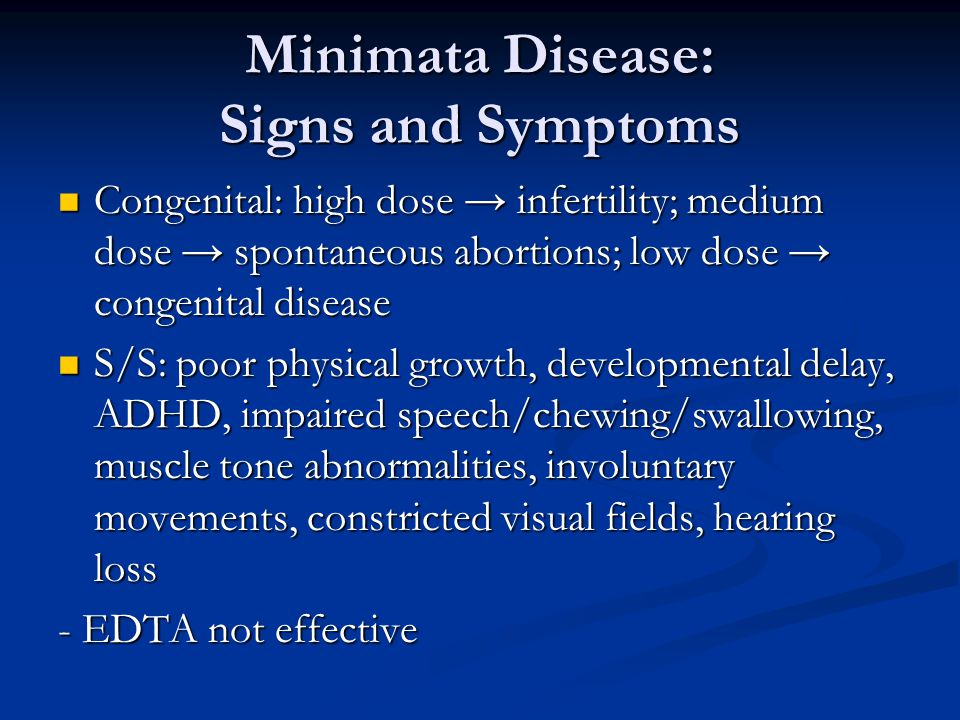 Minimata Disease: Signs and Symptoms