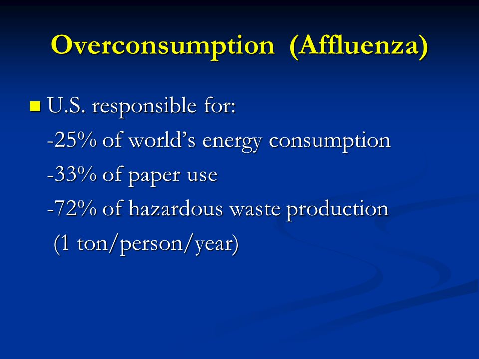 Overconsumption (Affluenza)