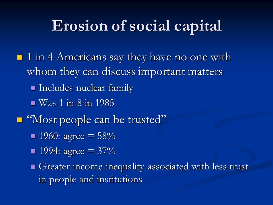 Erosion of social capital