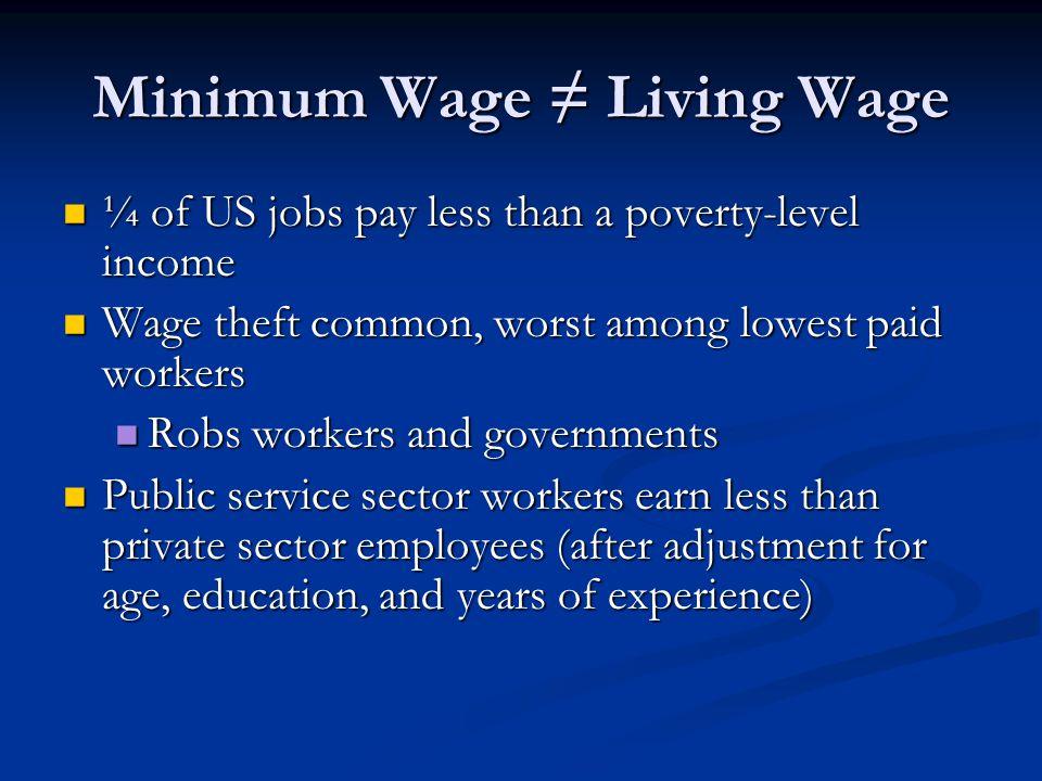 Minimum Wage ≠ Living Wage