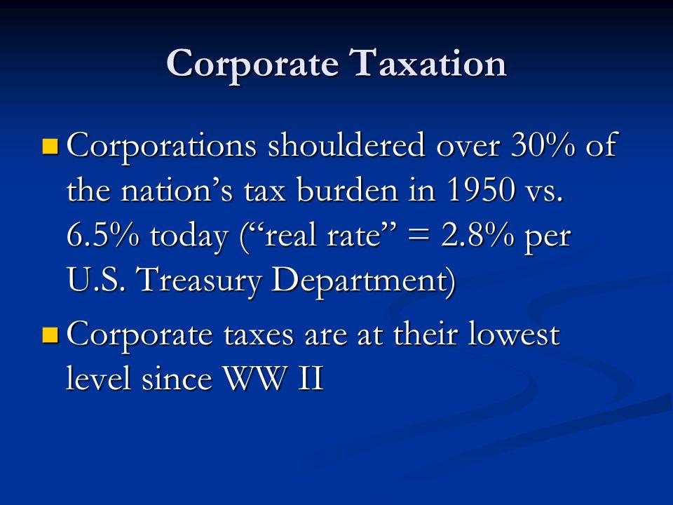 Corporate Taxation