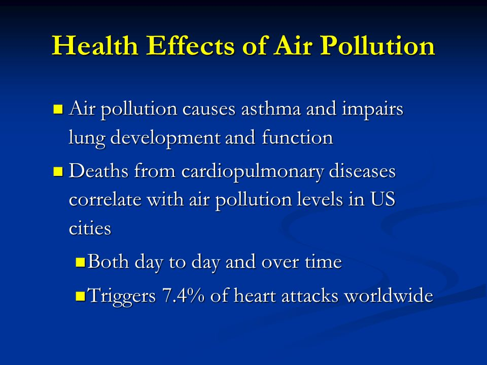Health Effects of Air Pollution