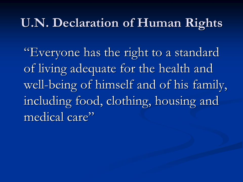 U.N. Declaration of Human Rights